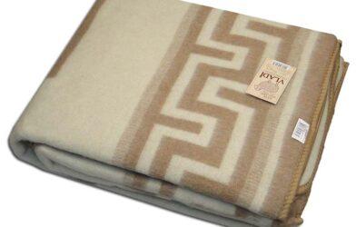 Одеяло жаккардовое шерстяное